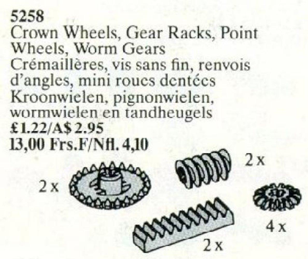 Crown Wheels, Gear Racks, Point Wheels, Worm Gears