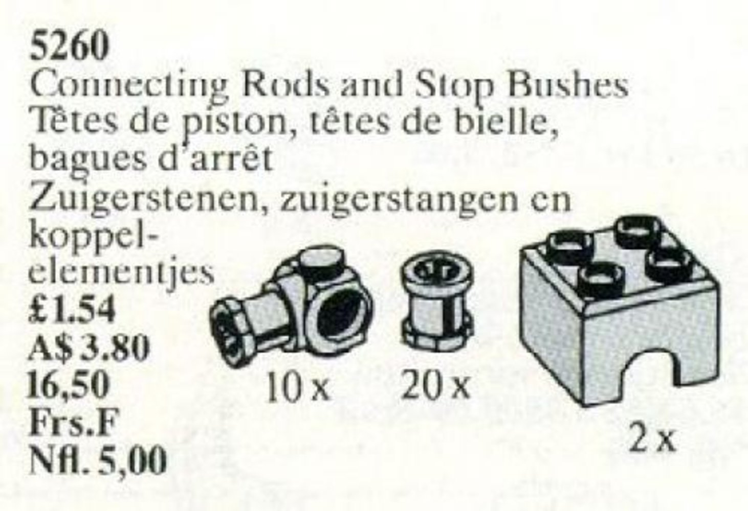 Connecting Rods and Stop Bushes