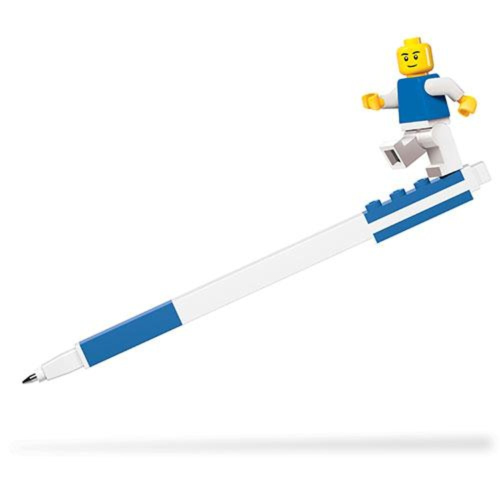 Gel Pen with Minifigure (Blue)