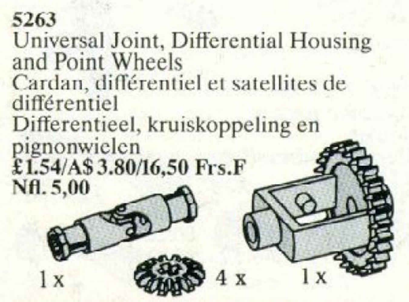 Universal Joint, Differential Housing, and Point Wheels
