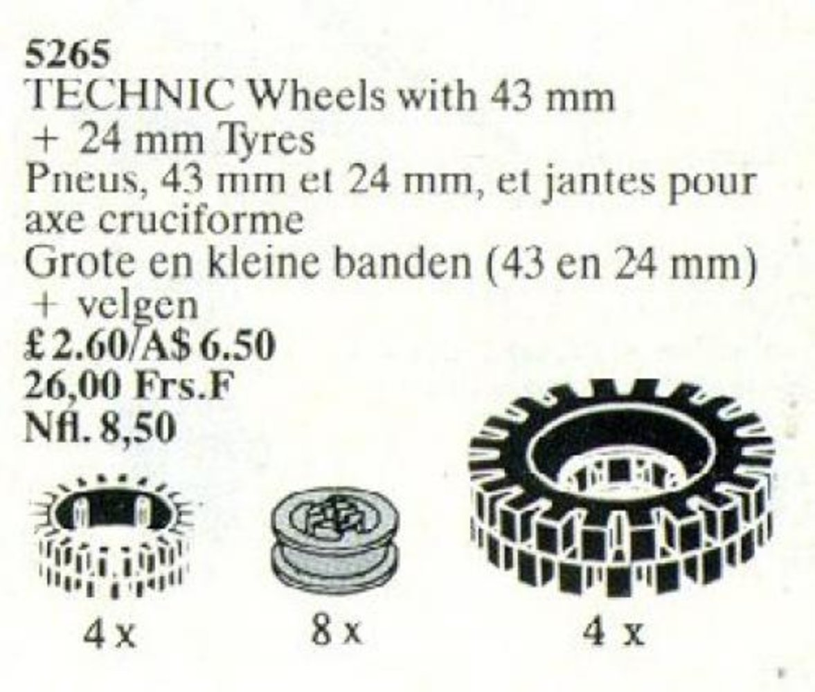 Large Tires and Wheels / TECHNIC Wheels with 43 mm + 24 mm Tyres