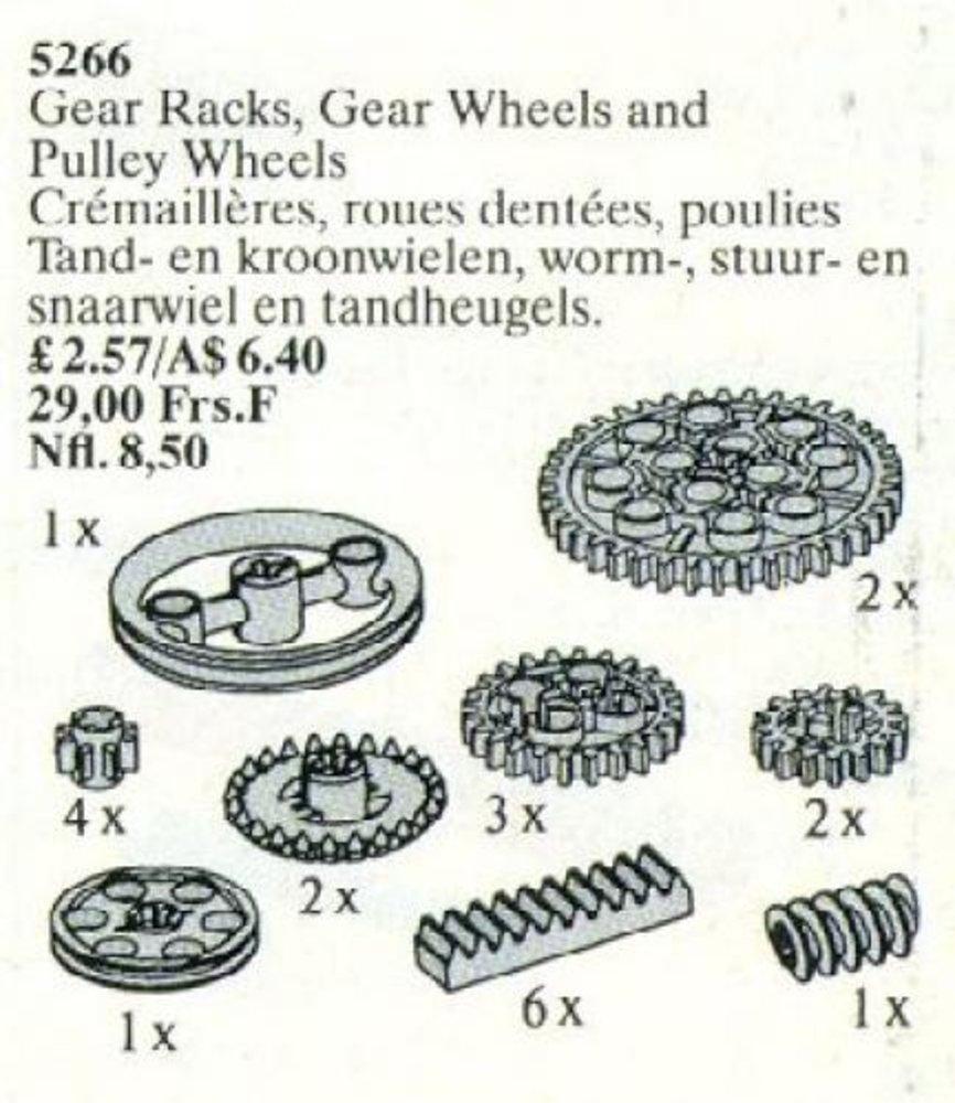 Gear Wheel Assortment / Gear Racks, Gear Wheels and Pulley Wheels