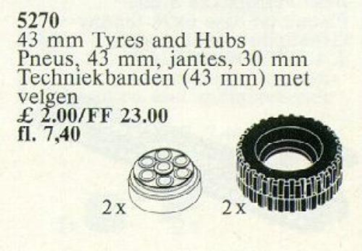 43 mm Tires and Hubs / 43 mm Tyres and Hubs