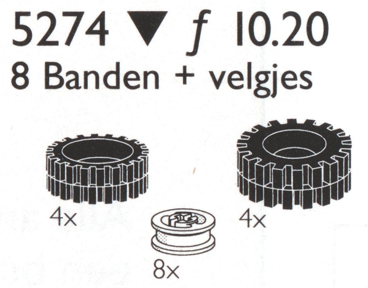 8 Tires / Tyres (4x24, 4x 30 mm) w/hubs