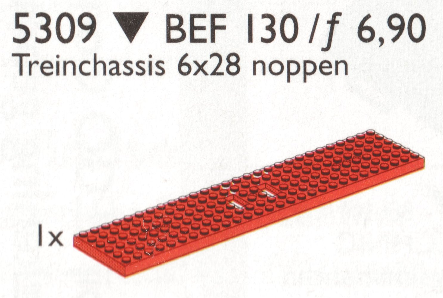 Wagon Plate, Red (6 x 28)