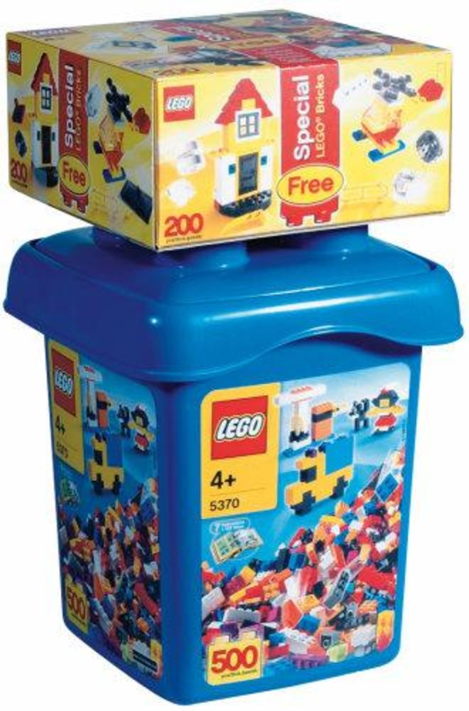 Large Make and Create Bucket with Special LEGO Bonus Bricks (Bucket and its contents only)