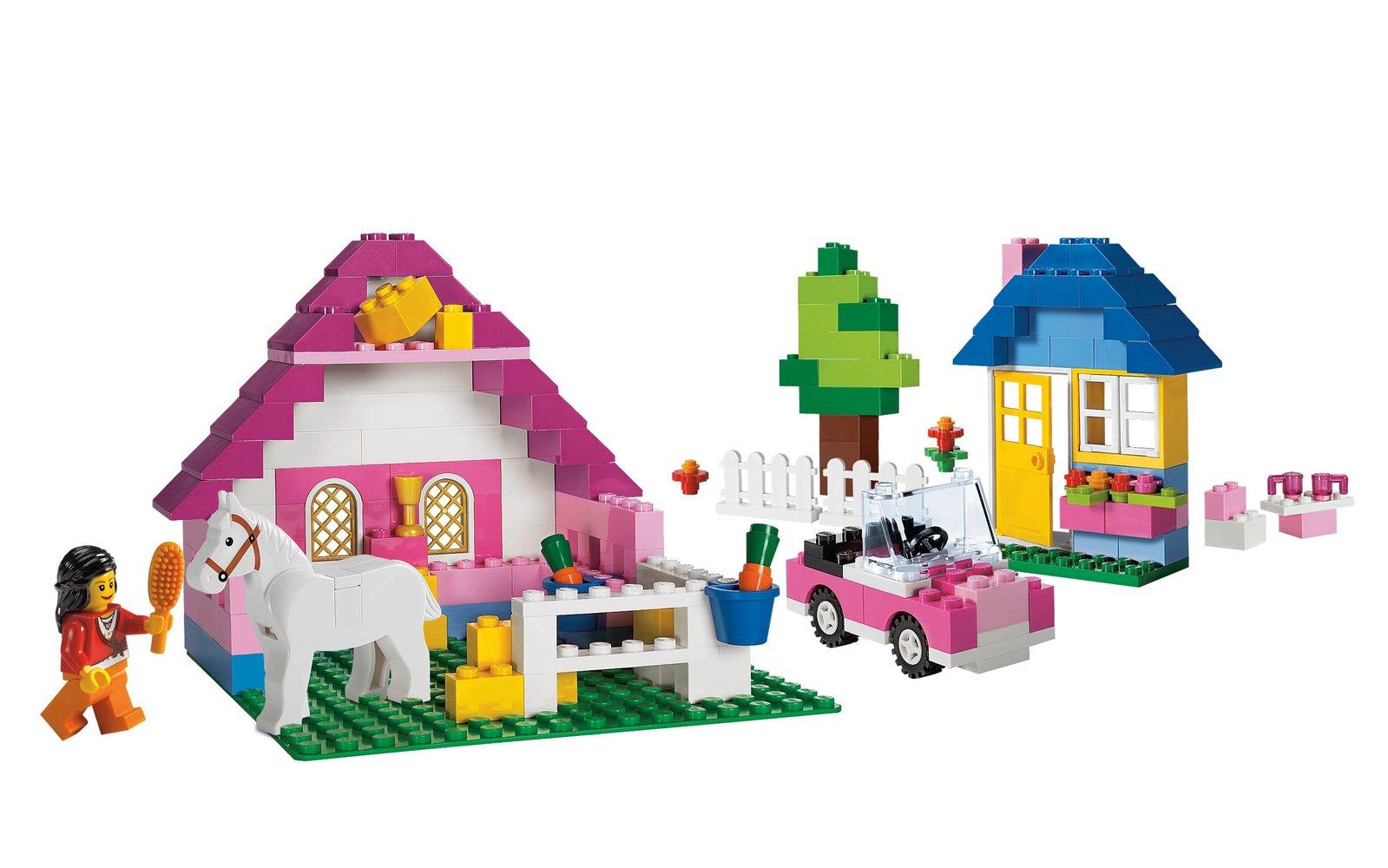 Large Pink Brick Box