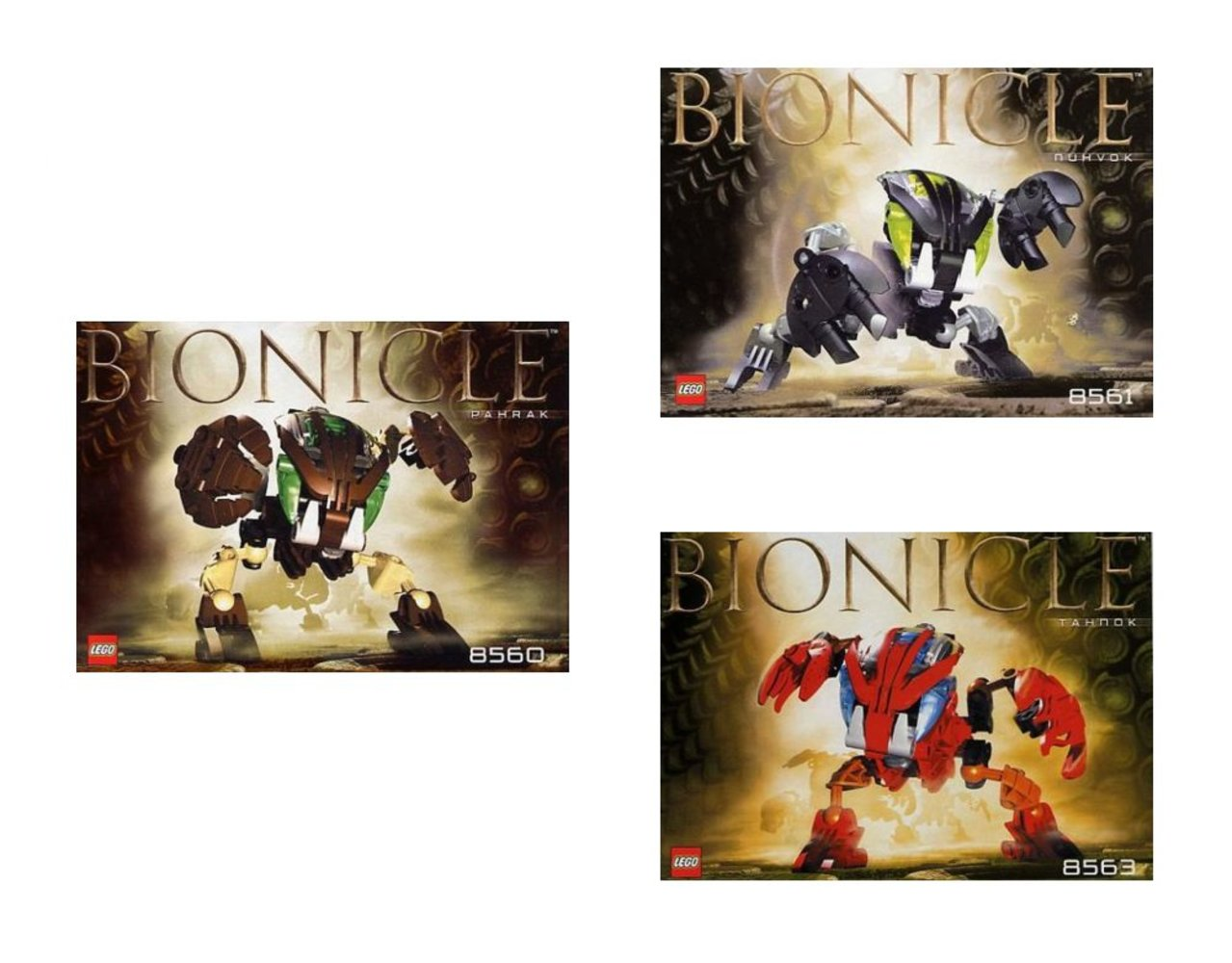 Bohrok Co-Pack (contains 8560 8561 8563)