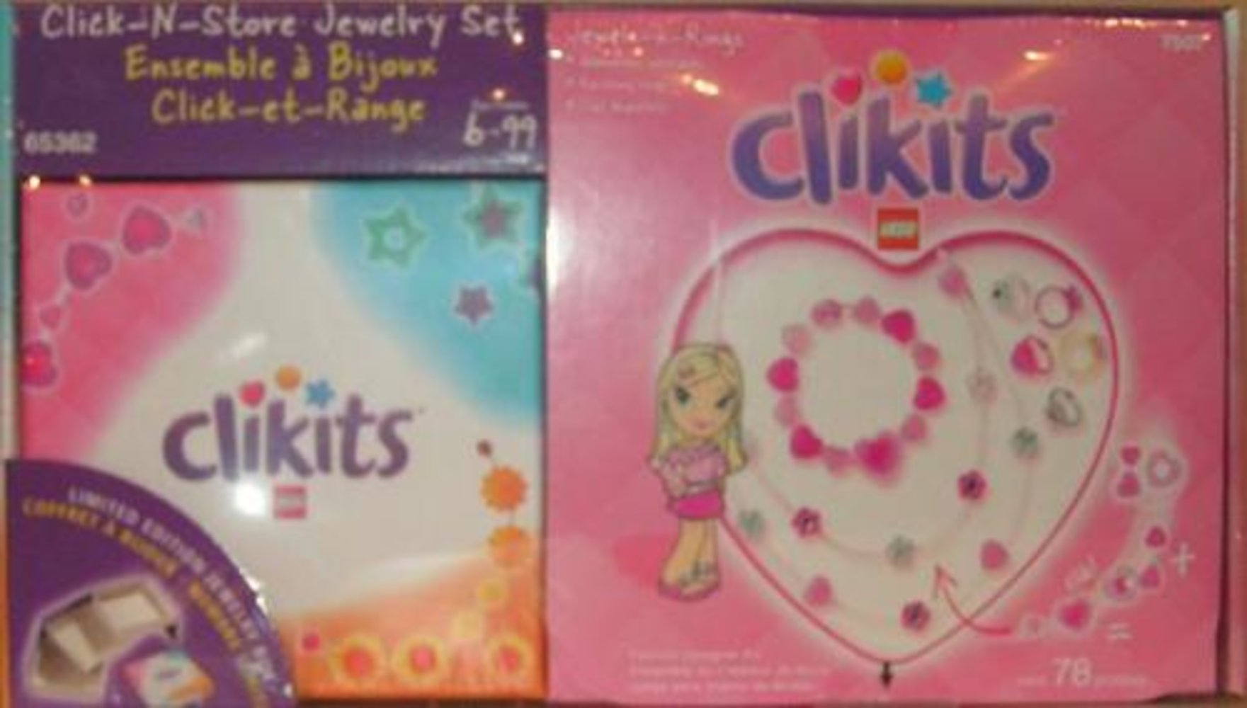 Jewels-n-Rings Click-N-Store Jewelry Set Co-Pack (7507 with jewelry box)