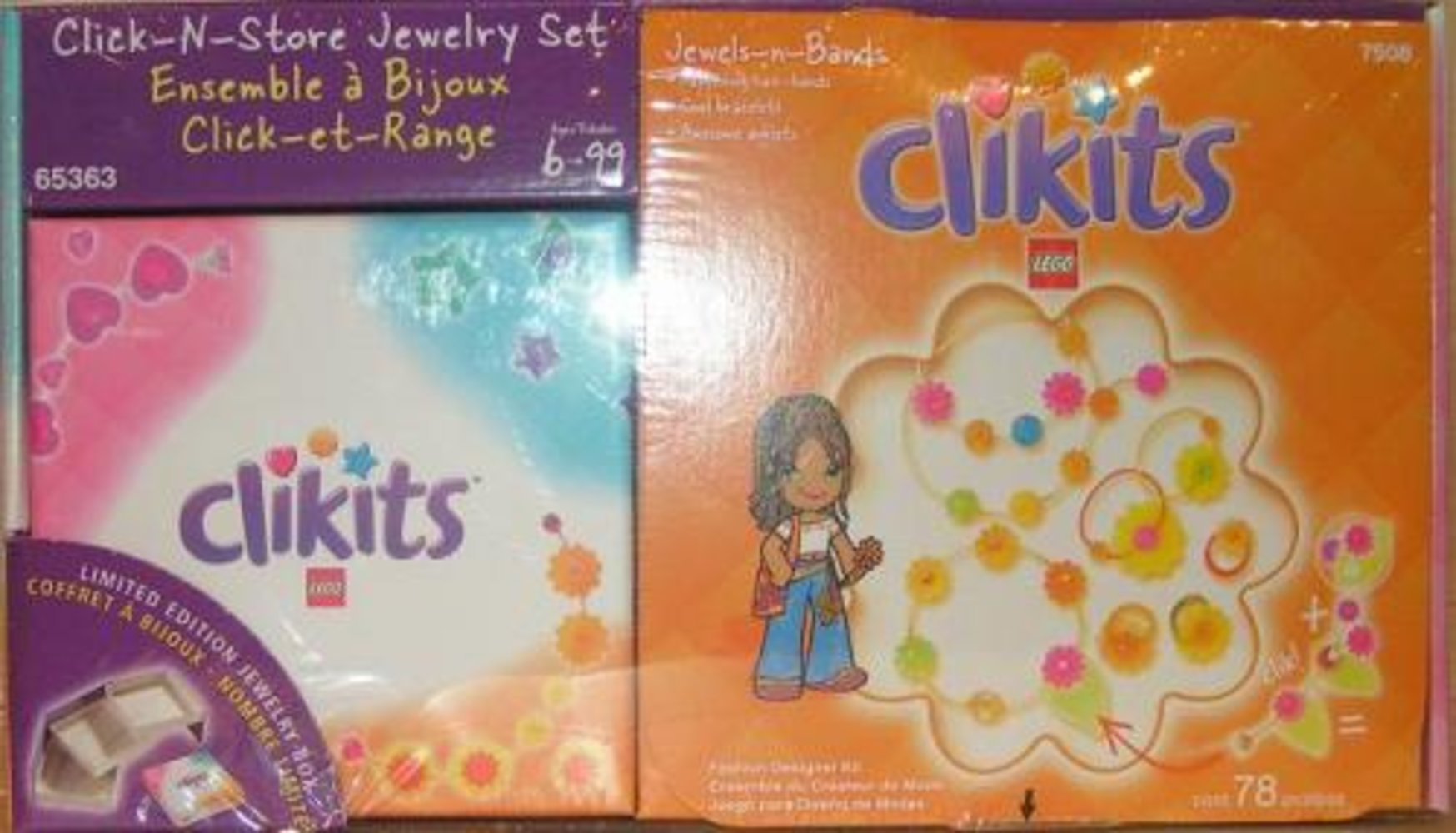 Jewels-n-Bands Click-N-Store Jewelry Set Co-Pack (7508 with jewelry box)