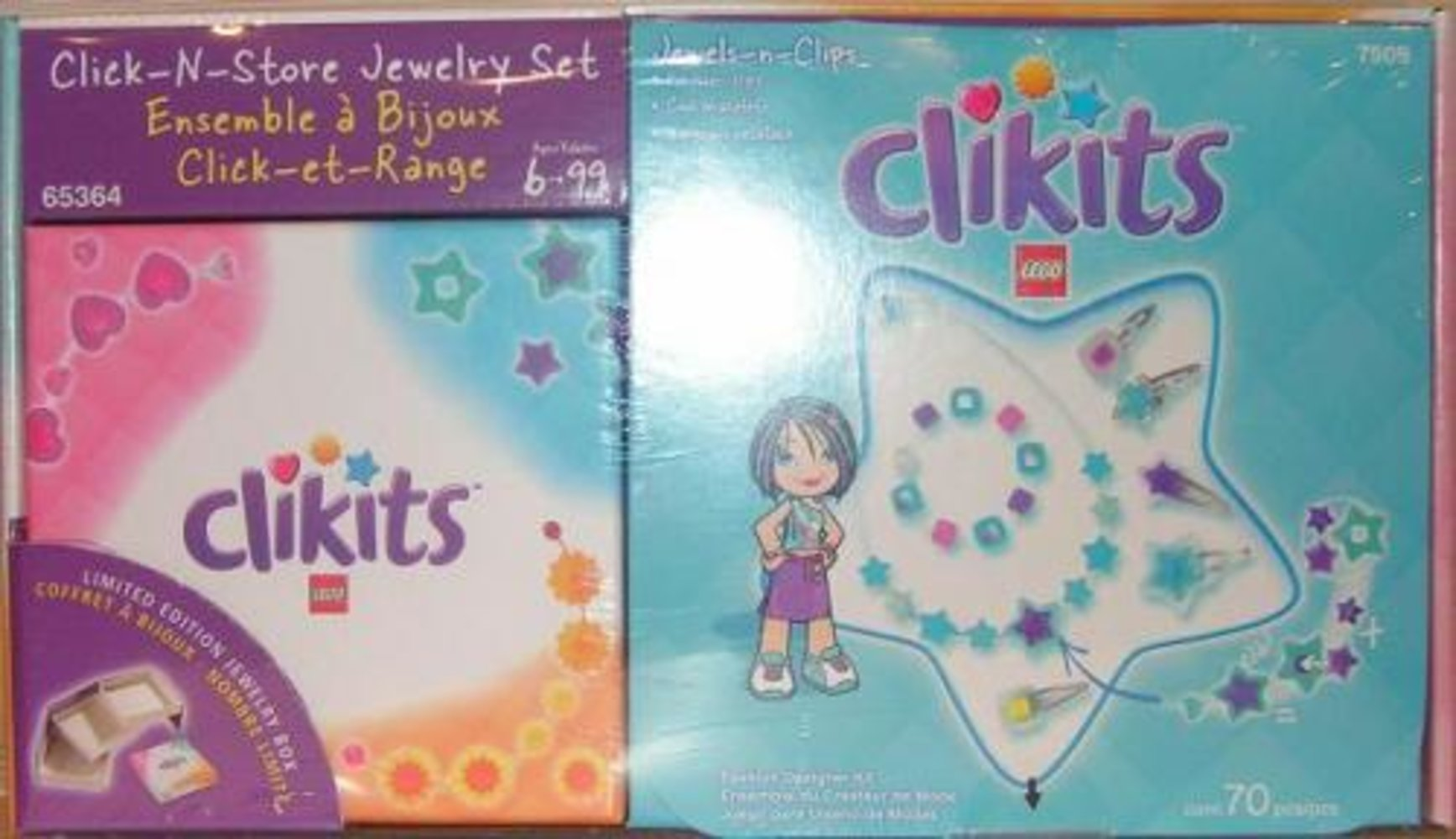 Jewels-n-Clips Click-N-Store Jewelry Set Co-Pack (7509 with jewelry box)