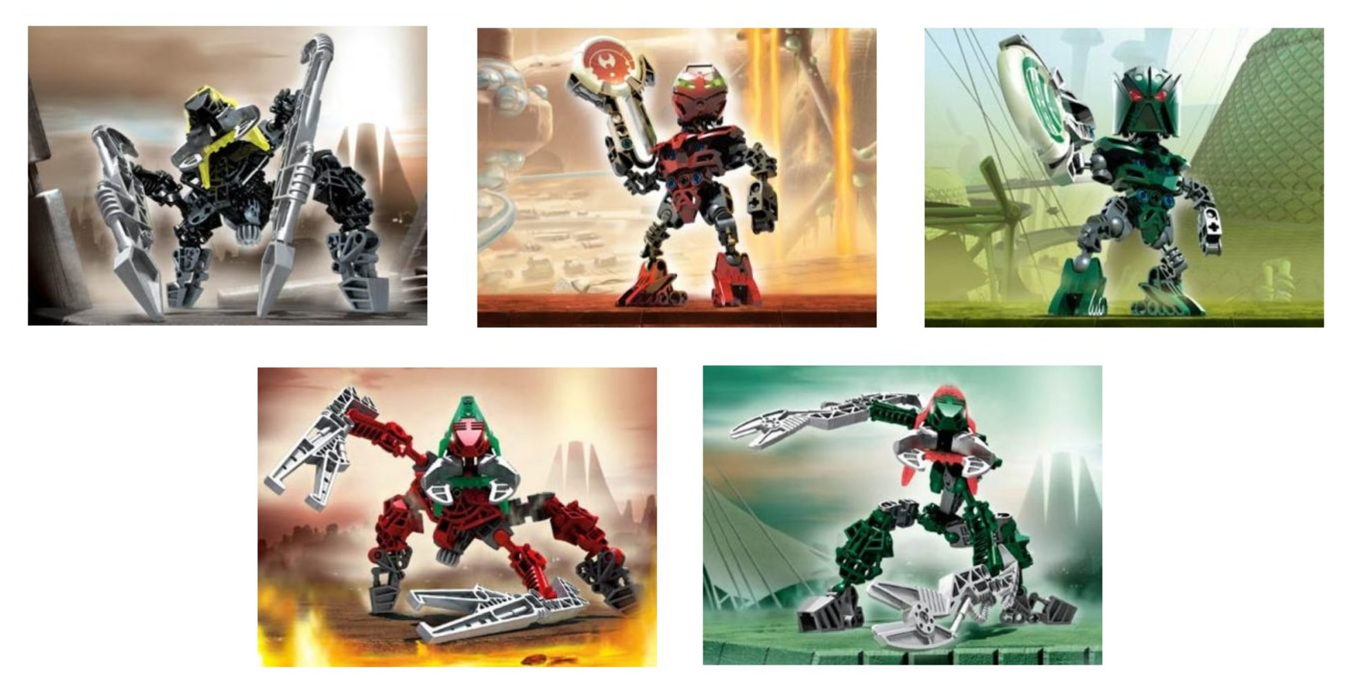 Matoran / Vahki Co-Pack 1 (contains 8607 8611 8614 8616 8618)