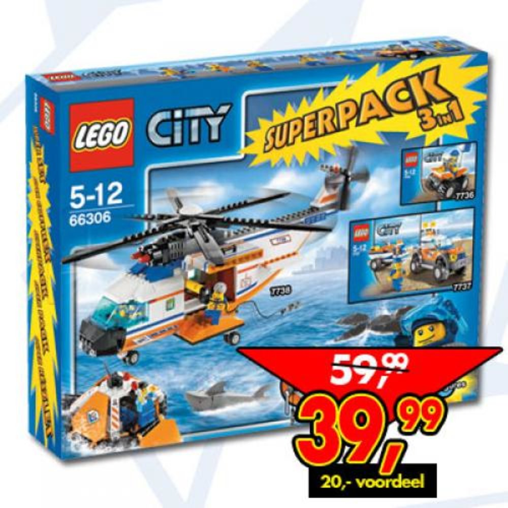 City Coast Guard Super Pack 3 in 1
