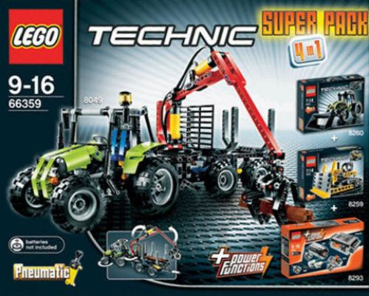 Technic Super Pack 4 in 1 (8049 8259 8260 8293)