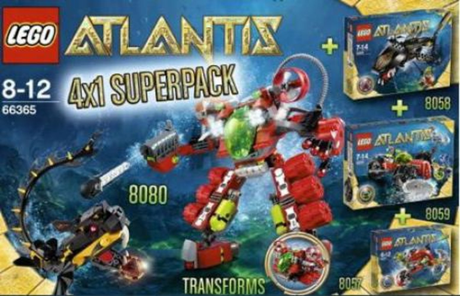 Atlantis Super Pack 4 in 1 (8057 8058 8059 8080)