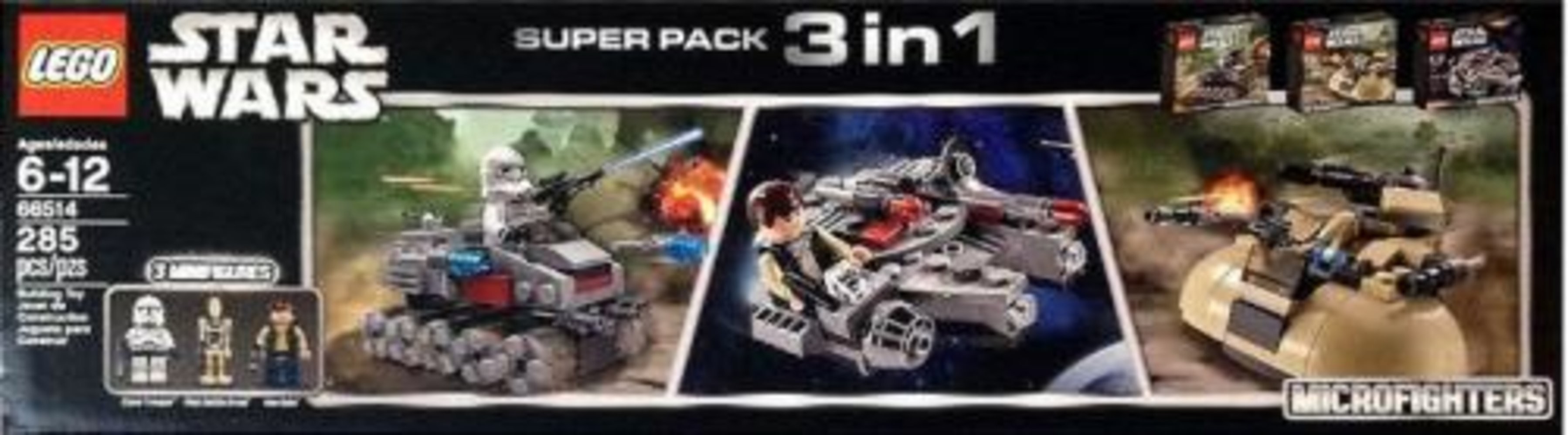 Star Wars Microfighters Super Pack 3 in 1 (75028, 75029, 75030)