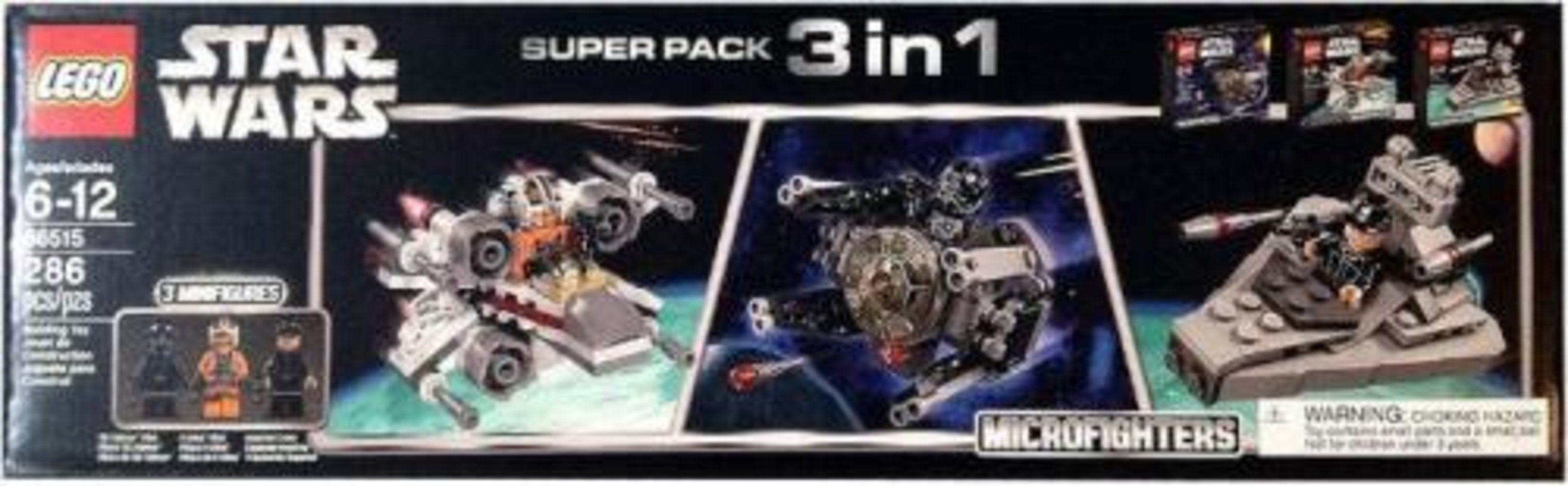 Star Wars Microfighters Super Pack 3 in 1 (75031, 75032, 75033)