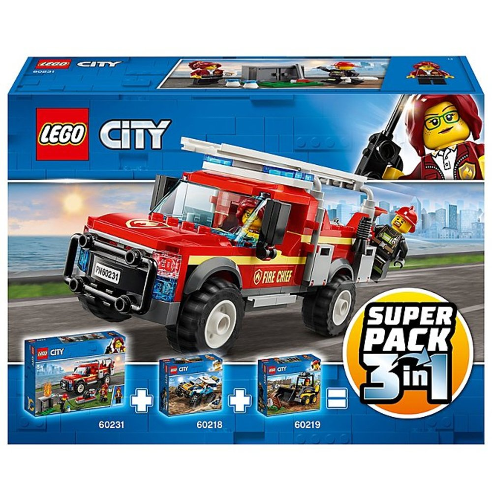 City Vehicles Super Pack 3-in-1