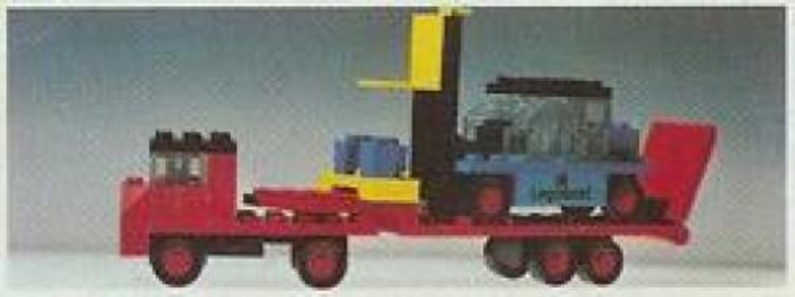 Low-Loader with Fork Lift Truck
