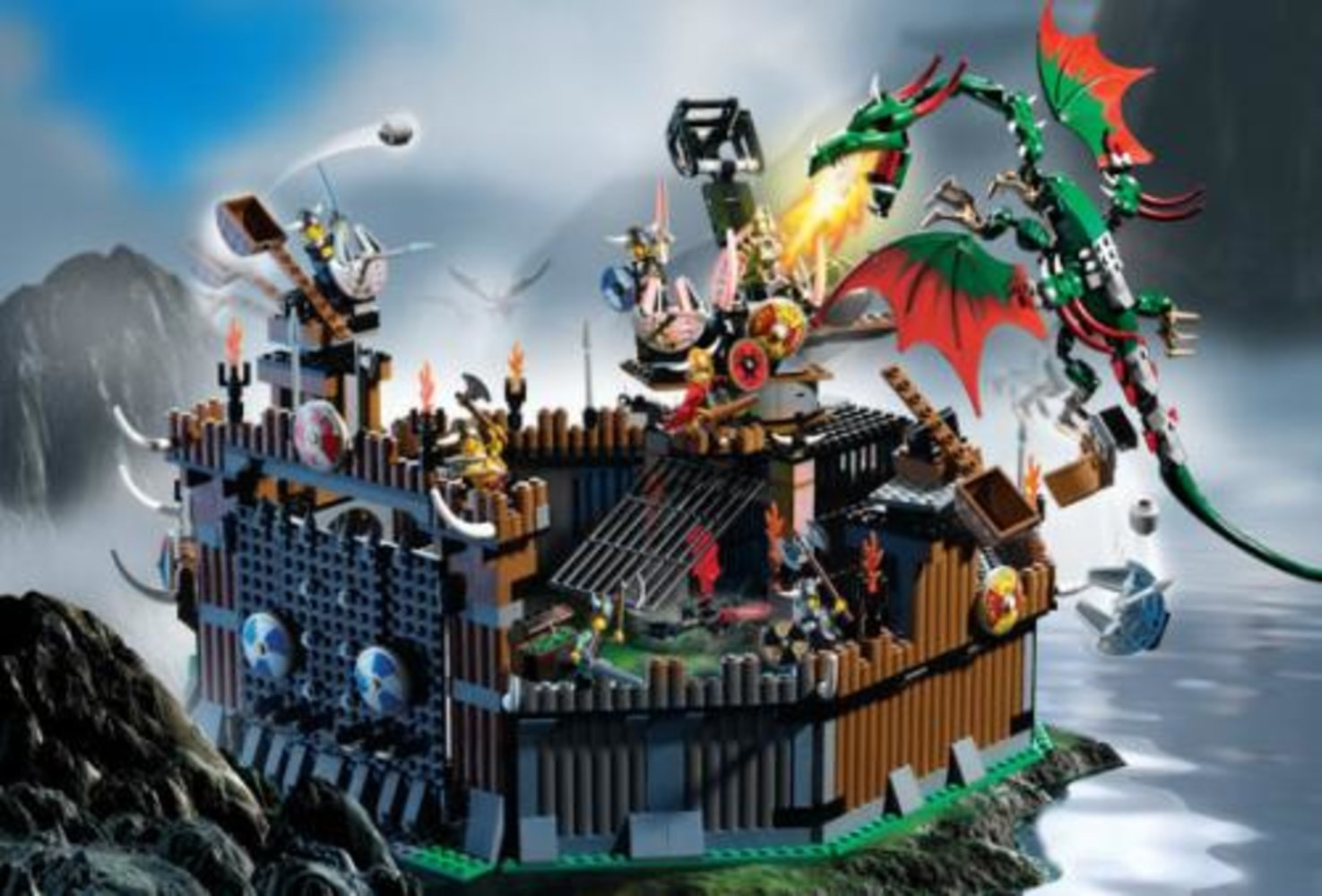 Viking Fortress against the Fafnir Dragon