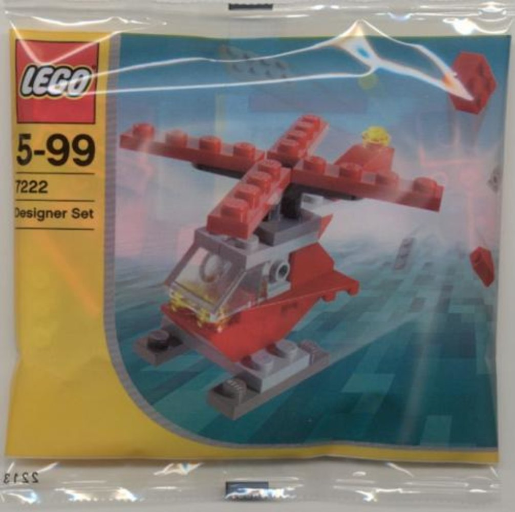 Small Red Helicopter (Polybag)