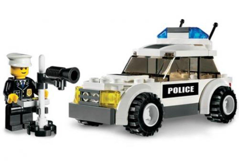 Police Car - Blue Sticker Version