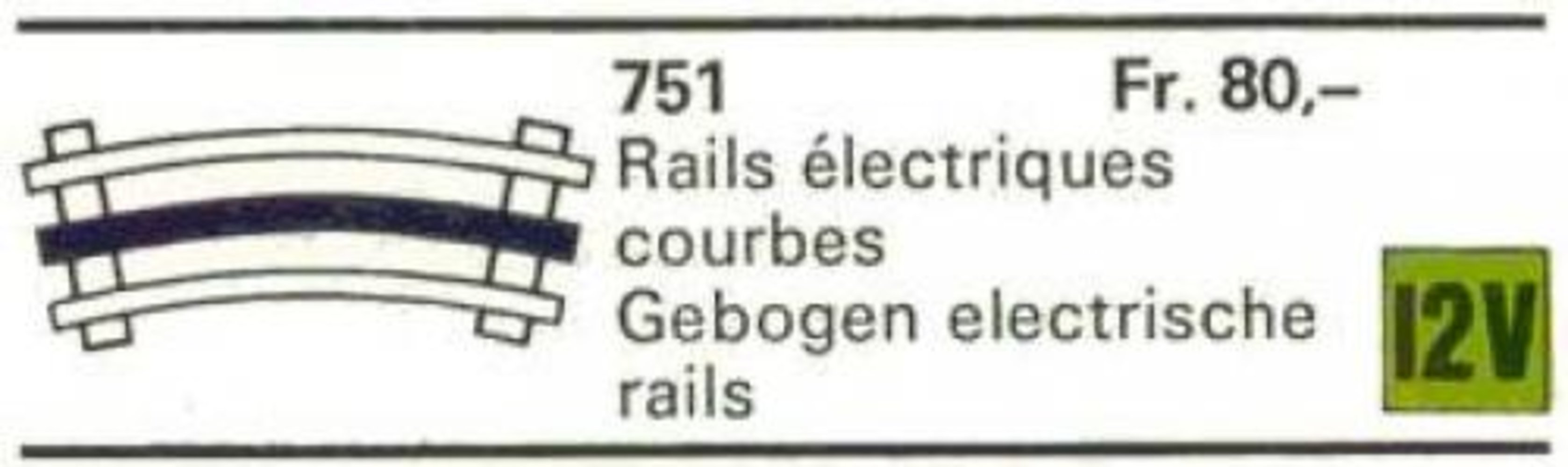 8 Curved 12V Conducting Rails