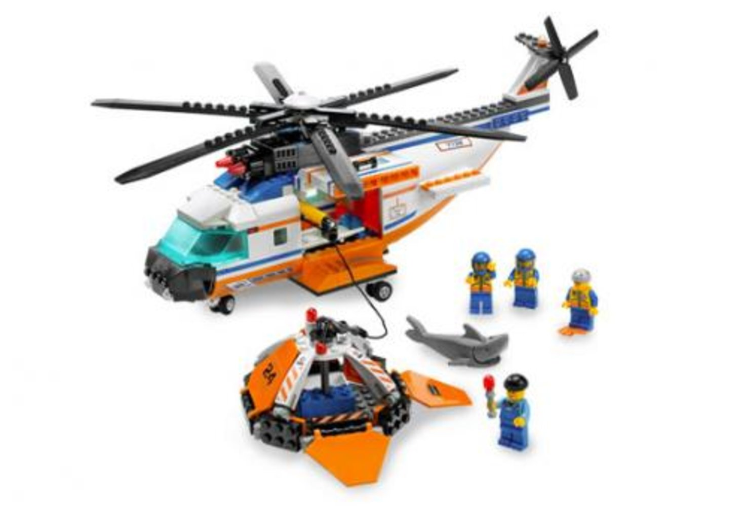 Coast Guard Helicopter and Life Raft