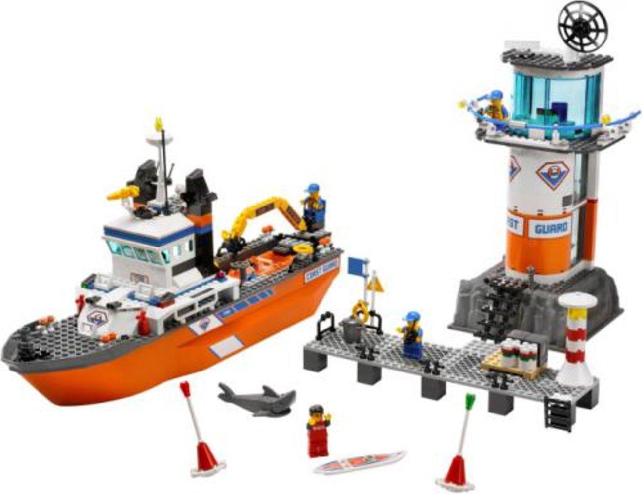 Coast Guard Patrol Boat and Tower