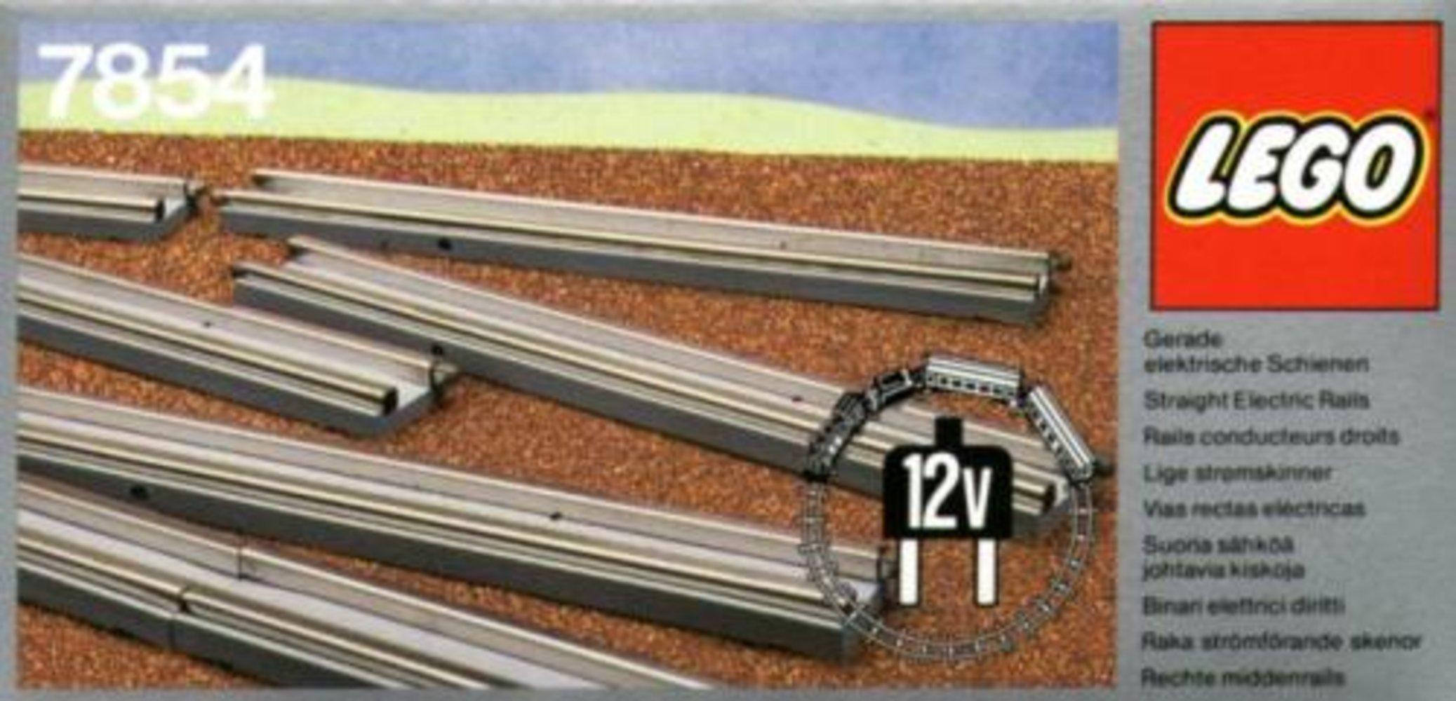 8 Straight Electric Rails Gray 12v