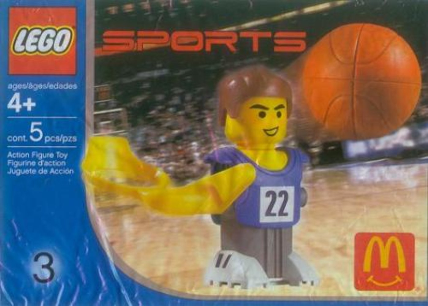 McDonald's Sports Set Number 3 - Blue Basketball Player #22