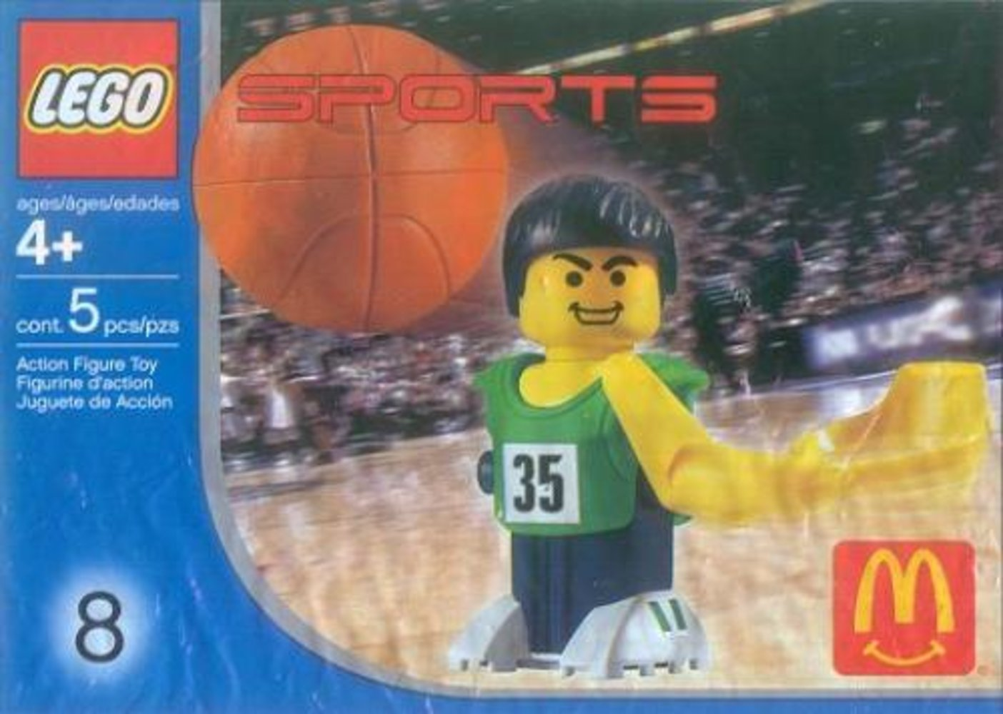 McDonald's Sports Set Number 8 - Green Basketball Player #35