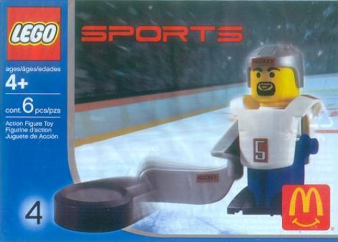 McDonald's Sports Set Number 4 - White Hockey Player #5