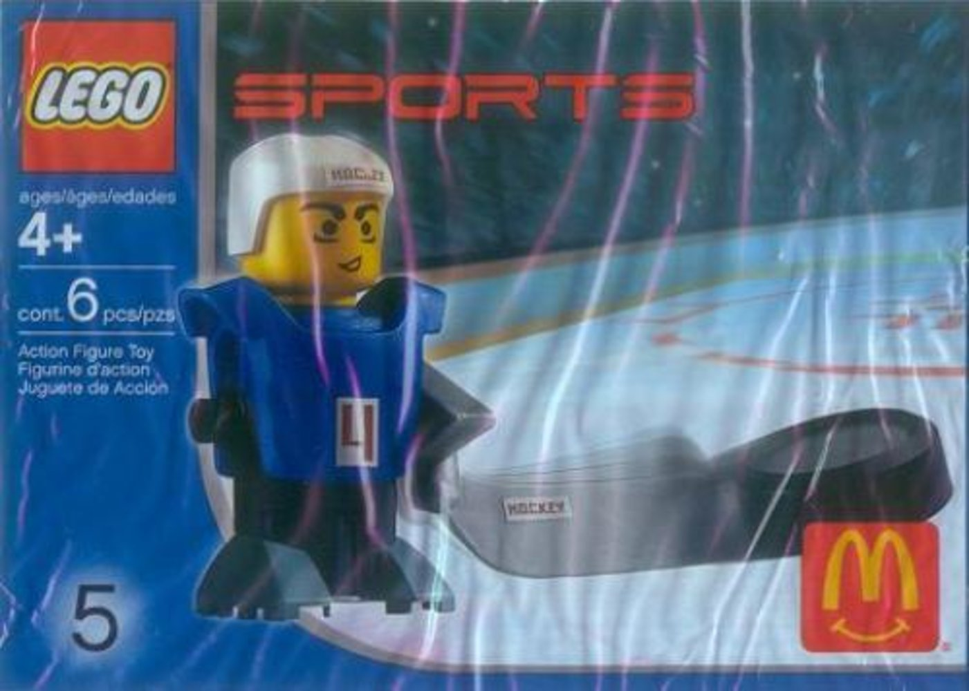 McDonald's Sports Set Number 5 - Blue Hockey Player #4