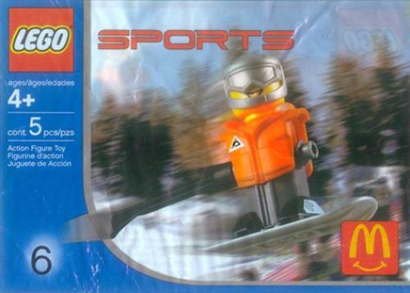McDonald's Sports Set Number 6 - Orange Vest Snowboarder