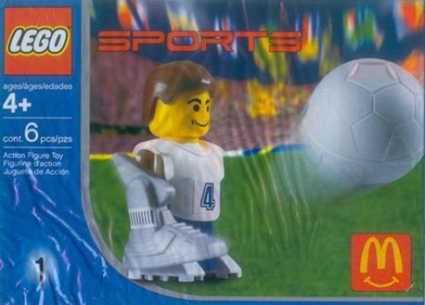McDonald's Sports Set Number 1 - White Soccer Player #4
