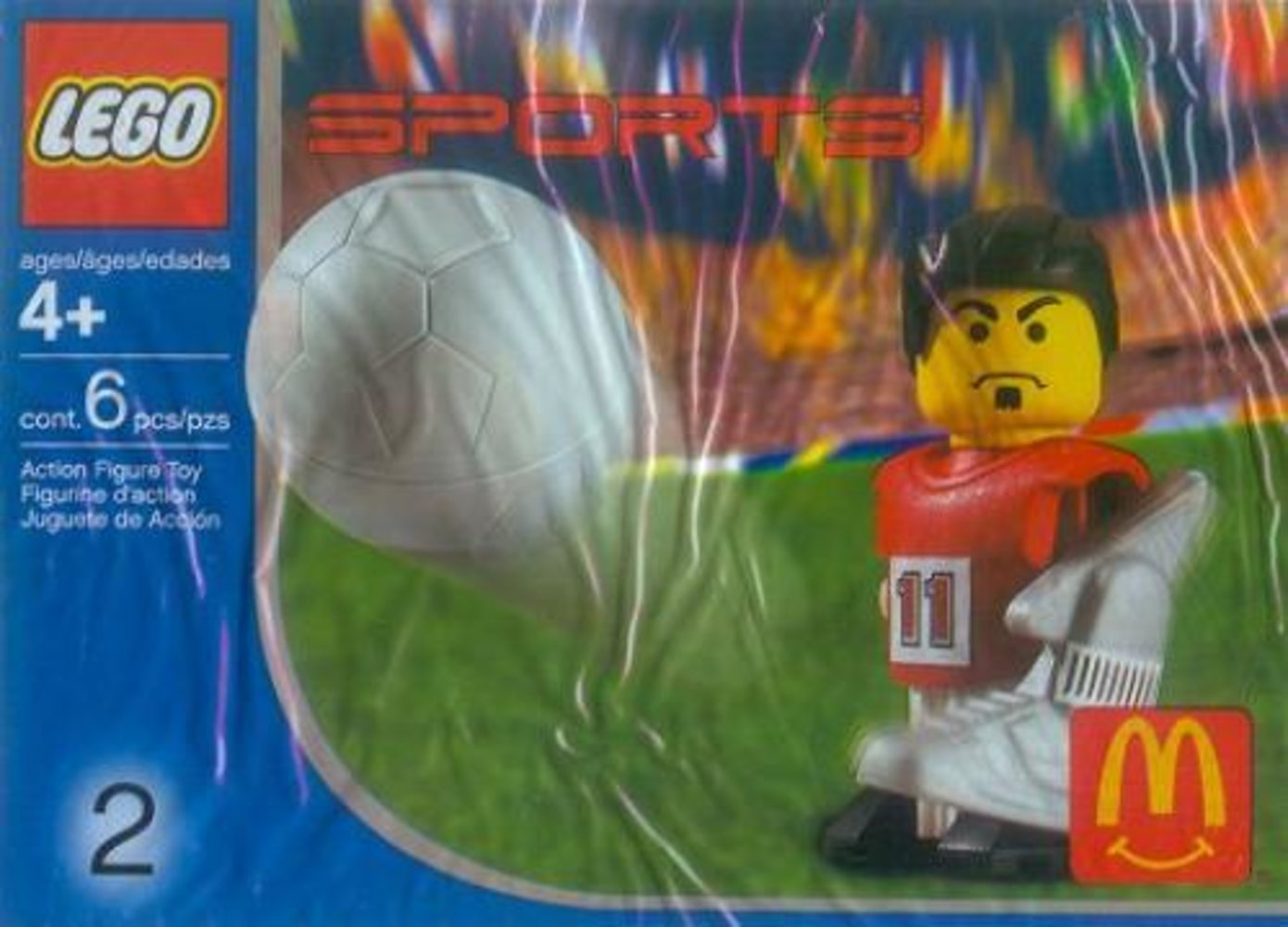 McDonald's Sports Set Number 2 - Red Soccer Player #11