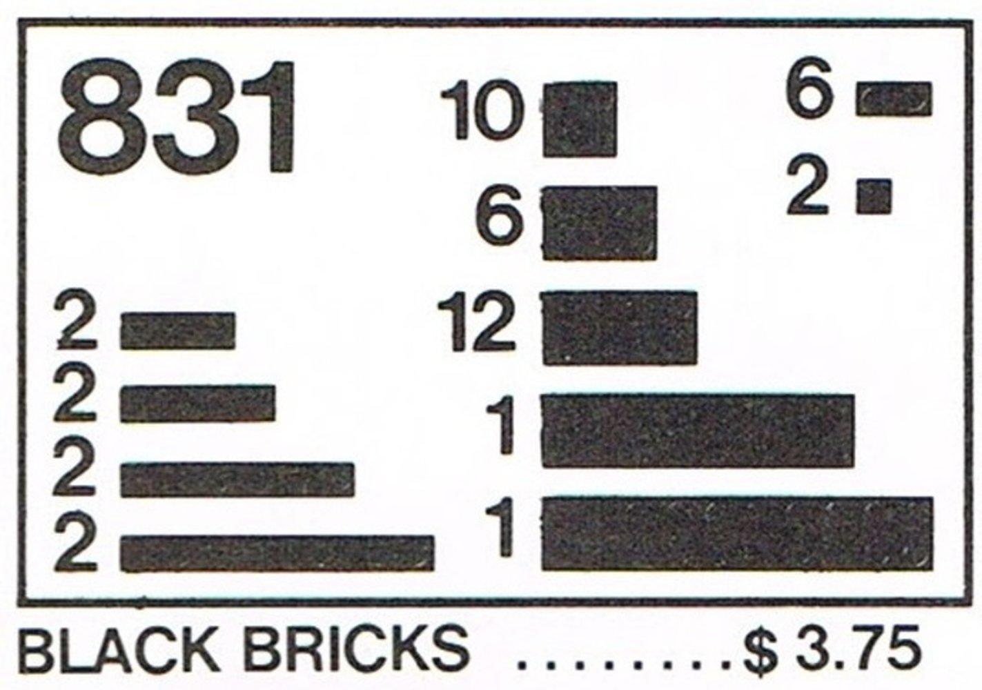 Black Bricks Parts Pack