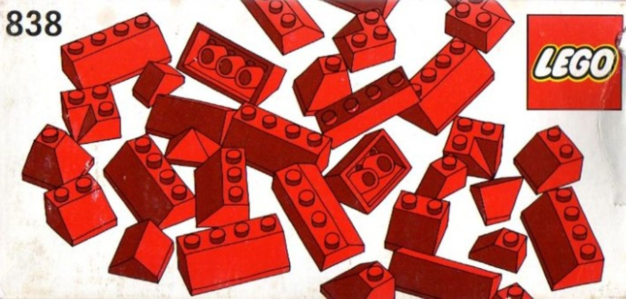 Red Roof Bricks Parts Pack, 45 Degree