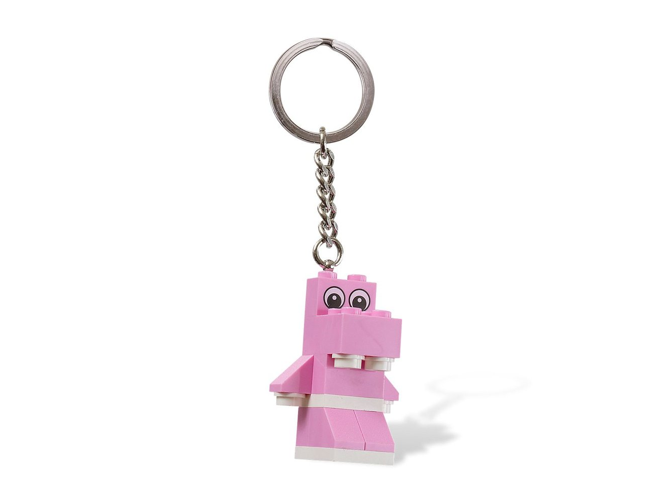 Pink Hippo Key Chain