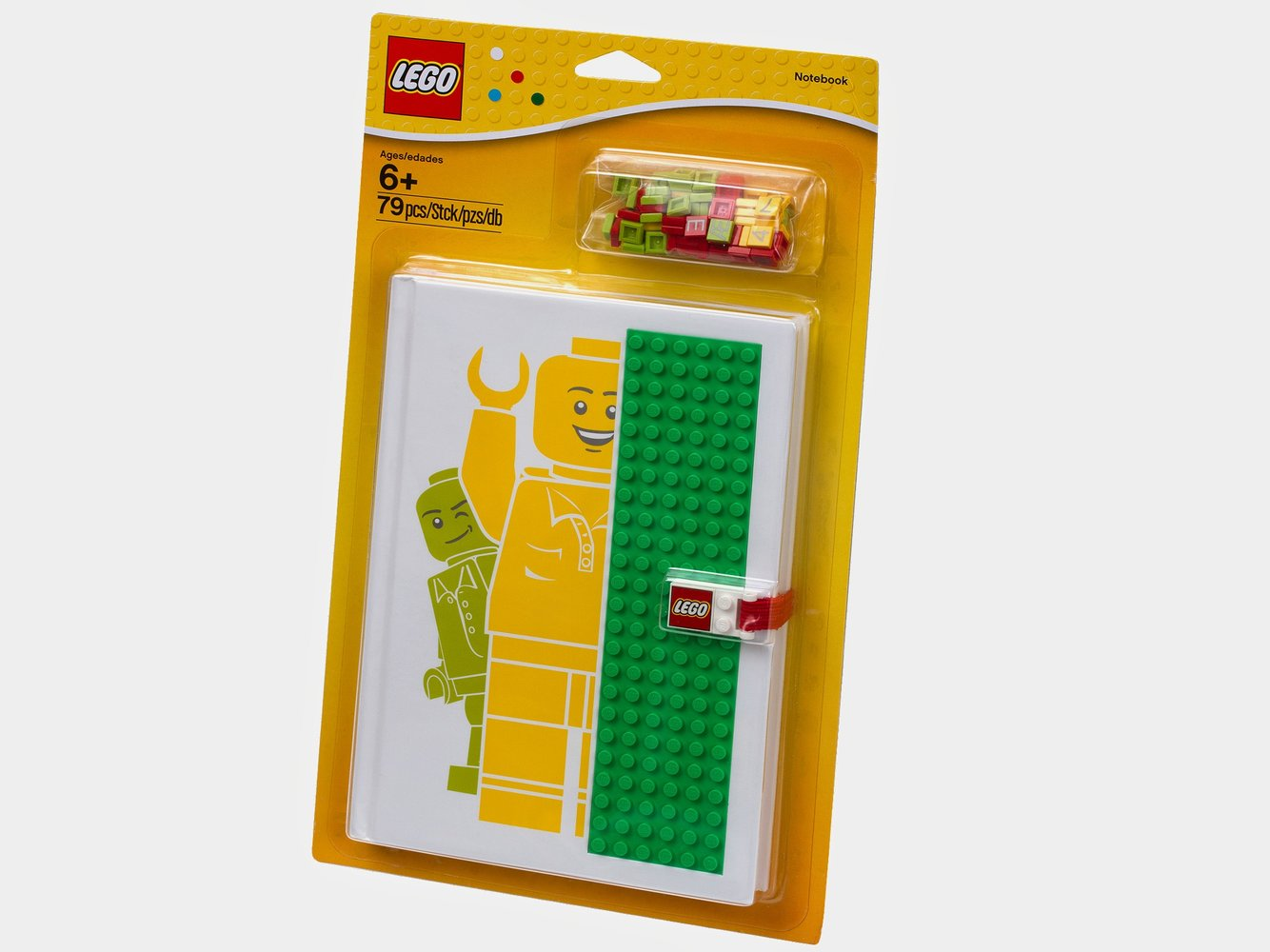 Notebook, Baseplate Cover with Alphanumeric Tiles and Lego Logo Clasp