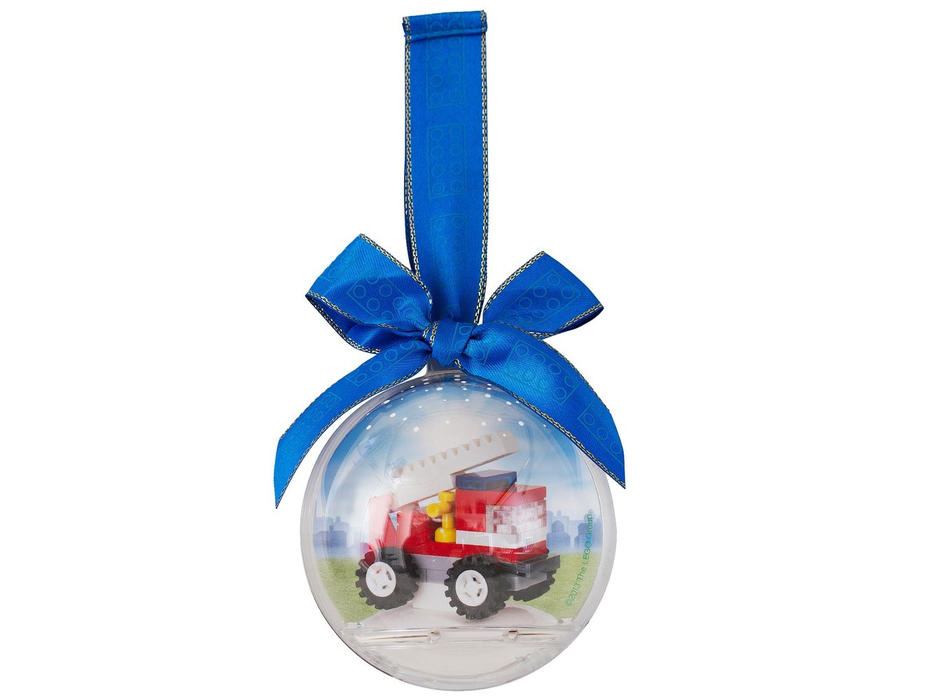 Fire Truck Holiday Bauble