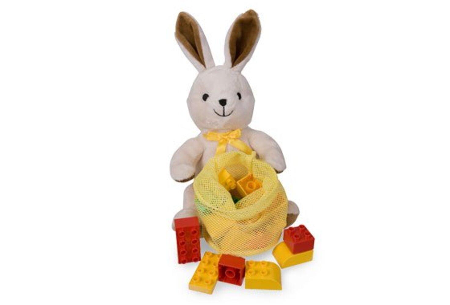 Plush Bunny with Bricks