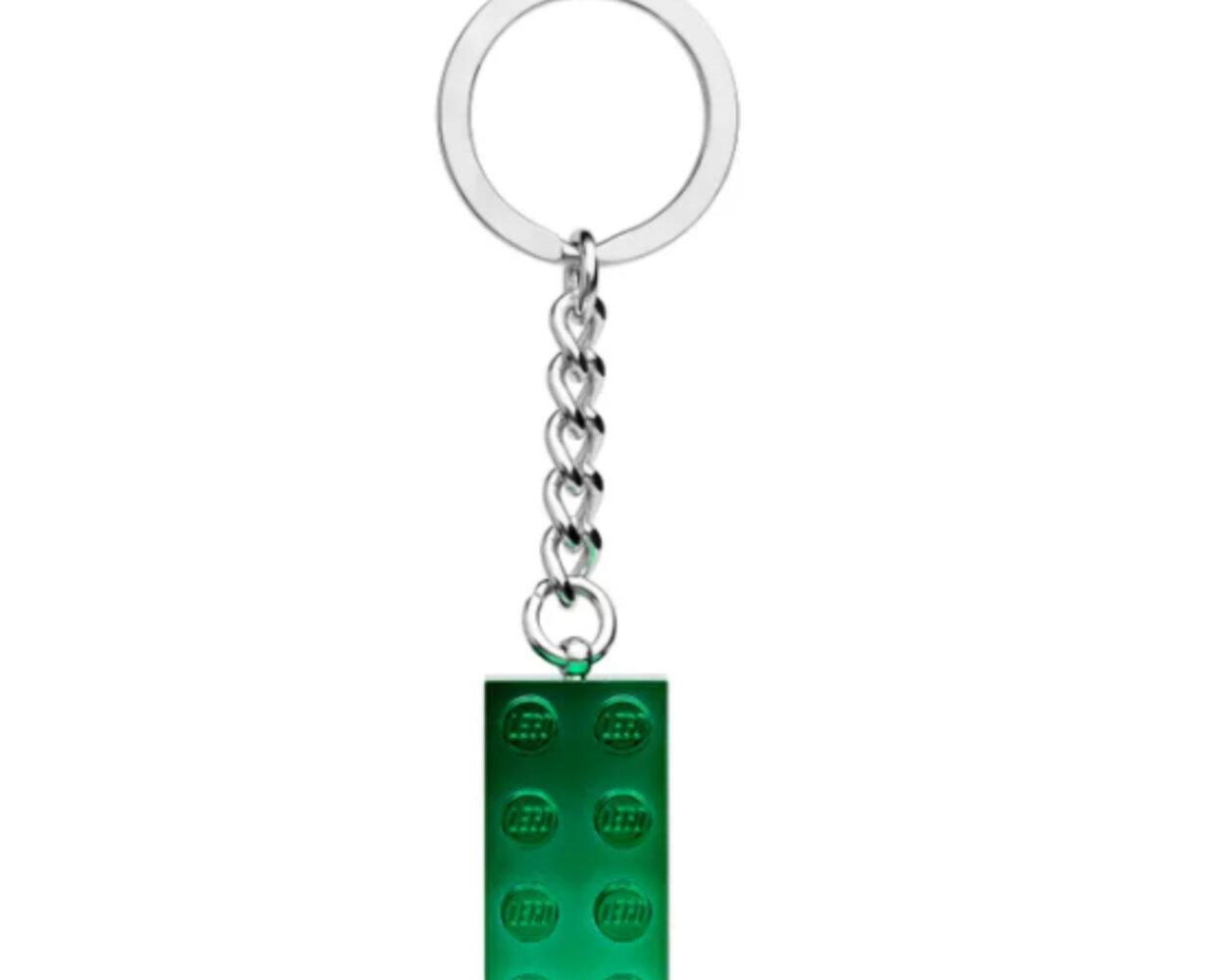 Green Metallic Keyring