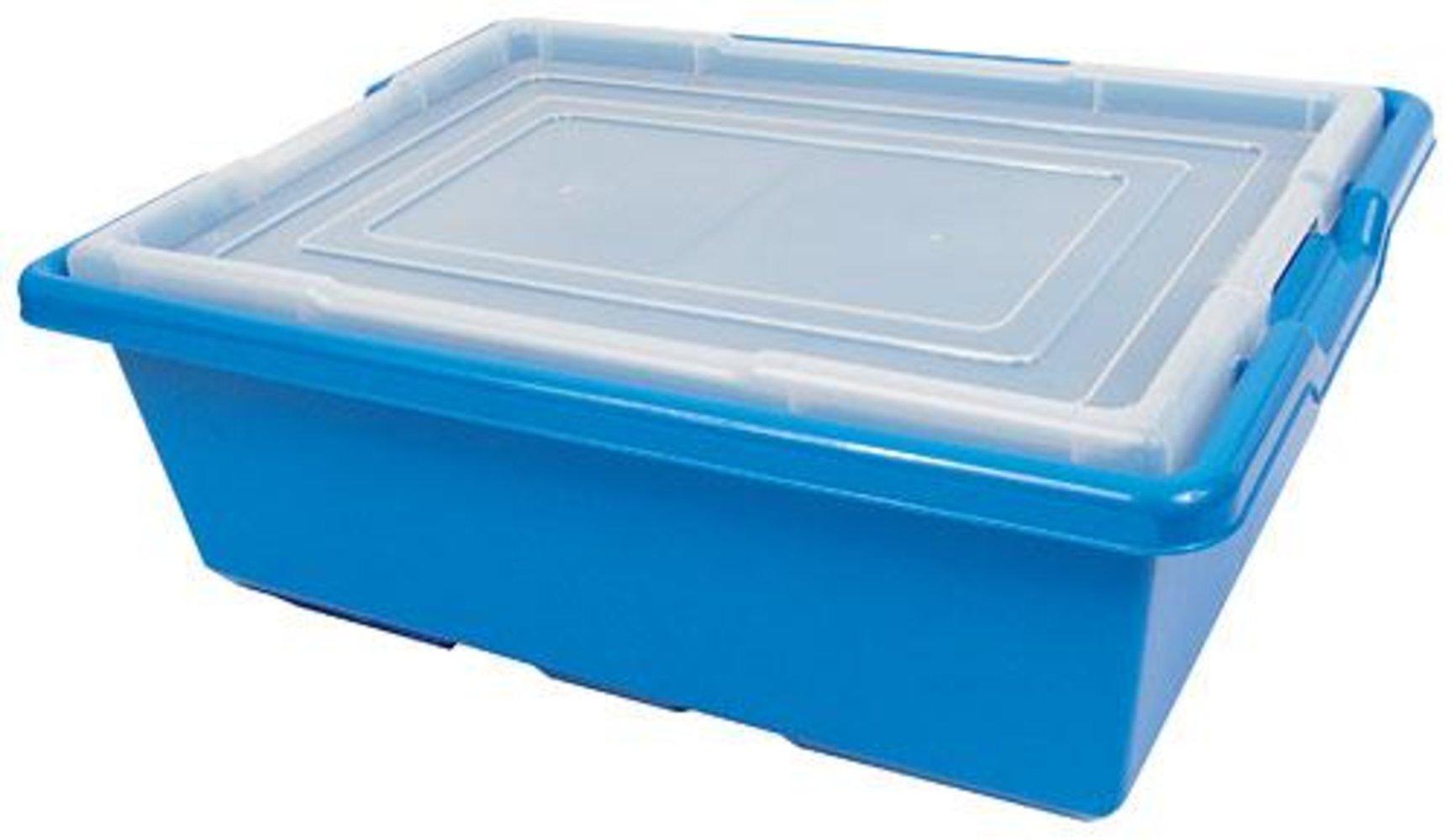 Medium Blue Storage Bin (16.5in x 12in x 6in)