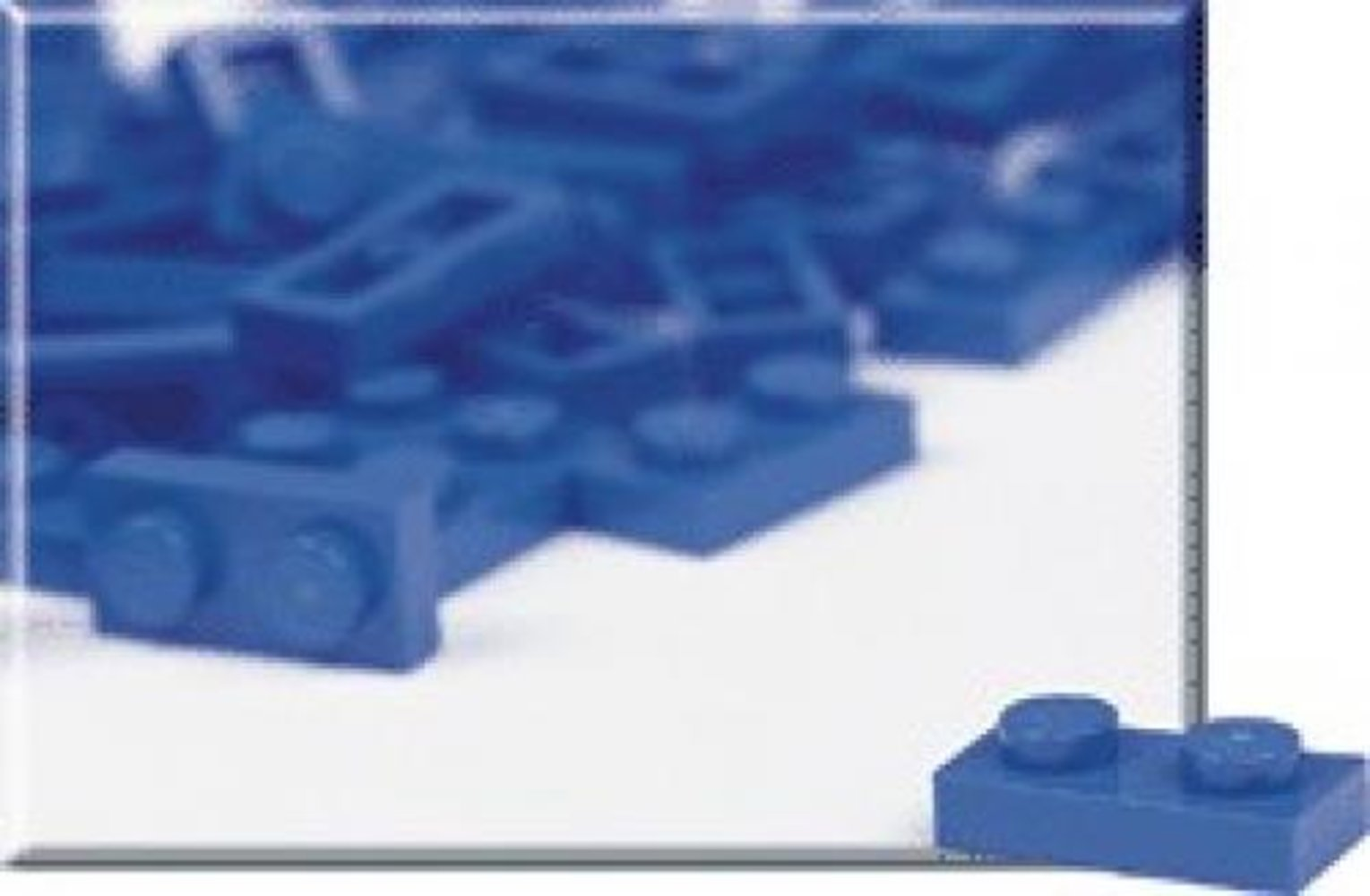 1 x 2 Blue Plates (Pack of 100)