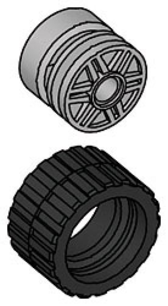 Small Wide Tire & Hub (Pack of 8 each)