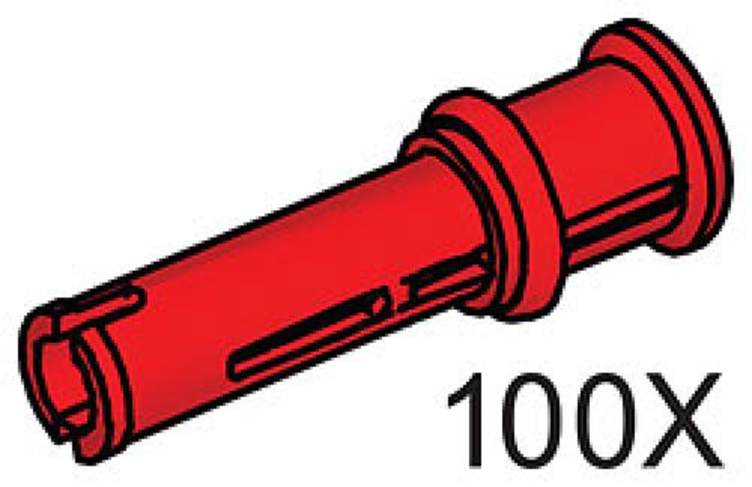 Connector Peg with Axle (Pack of 100)