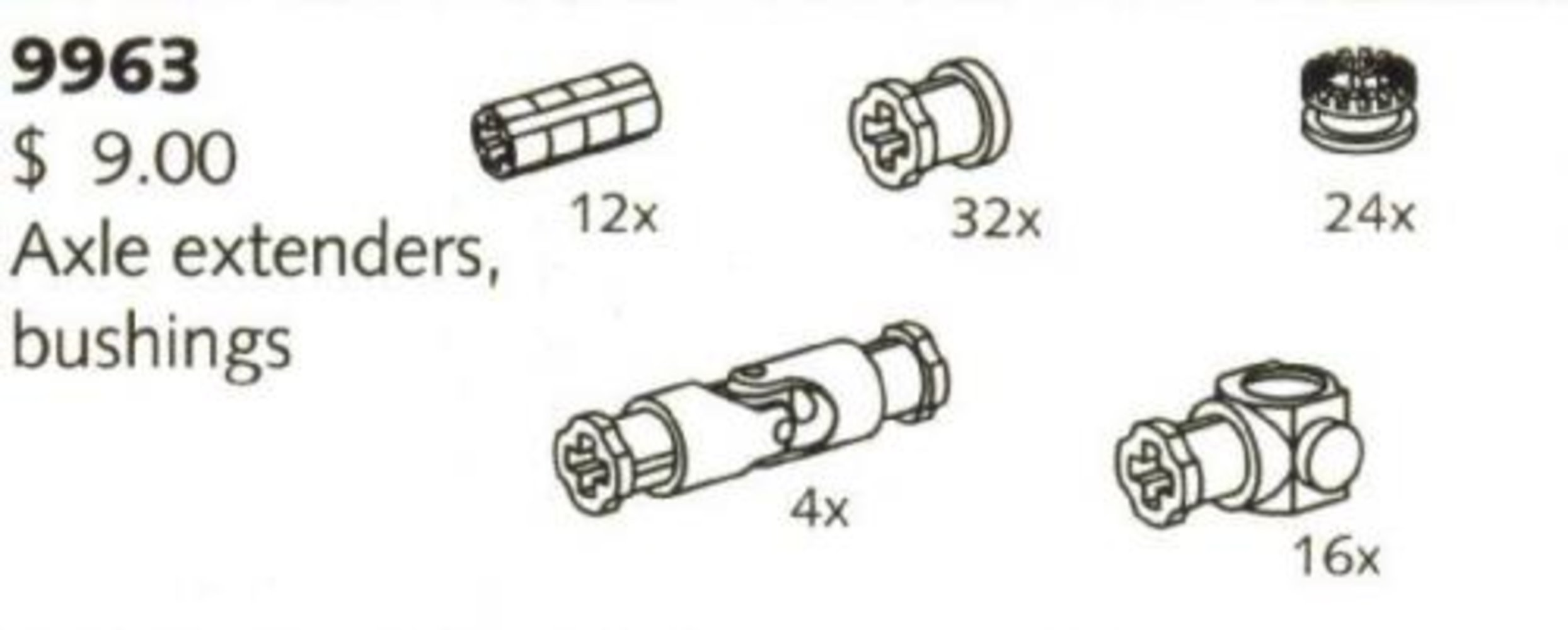 Axle Extenders and Bushings