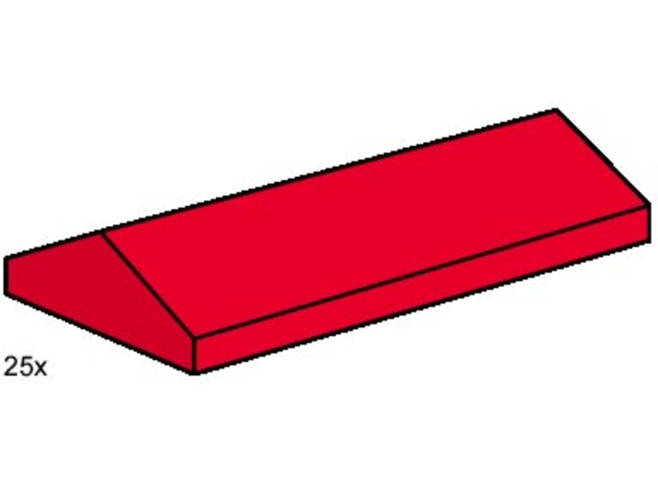 2 x 4 Ridge Roof Tile Low Sloped Red